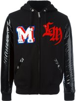 Love Moschino patch detailing hooded bomber jacket