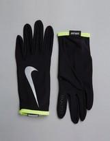 Nike Running Lightweight Rival Run Gloves In Black