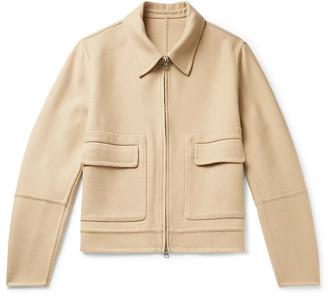 Ami Cropped Wool-blend Twill Jacket - Neutrals