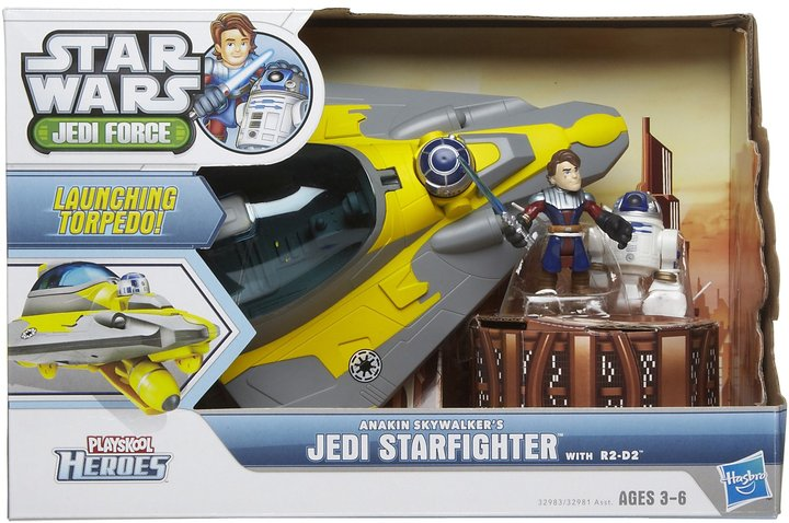 Star Wars Hasbro Jedi Force Anakin Skywalker Jedi Starfighter R2D2
