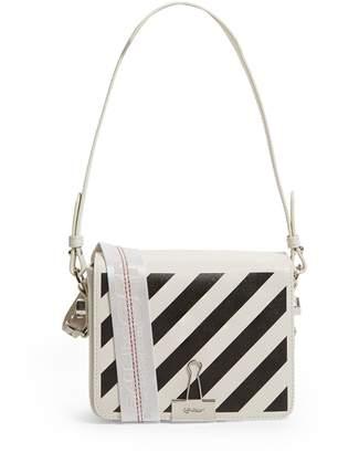 Off-White Off White Diagonal Stripe Flap Cross Body Bag