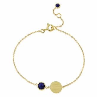 Lapis Auree Jewellery Bali 9Ct Gold September Birthstone Bracelet Lazuli