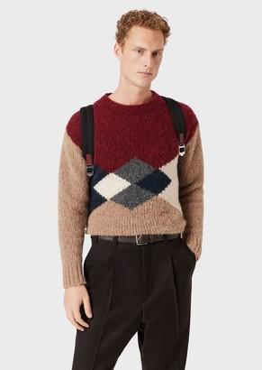 Giorgio Armani Sweater With Intarsia Knit Diamond