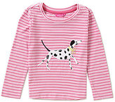 Joules Little Girls 3-6 Rava Dalmation-Appliqued Striped Jersey Top