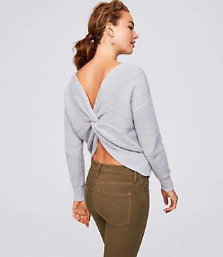 LOFT Twist Back Sweater
