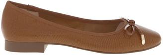 Basque Yasmin Tan Embossed Leather Heel