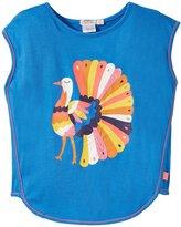Billieblush Turkey Tee W/Round Hem (Toddler/Kid) - Bleu Marin-3 Years