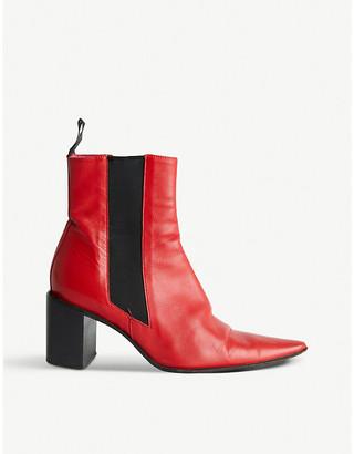 Selfridges Freelance heeled leather ankle boots