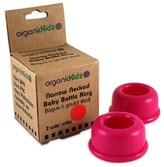 Smallflower organicKidz Hot Pink Narrow Neck Bottle Rings
