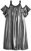 Sally Miller Girls' Metallic Cold-Shoulder Dress - Big Kid
