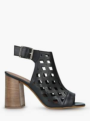 Carvela Arc Laser Cut Block Heel Sandals