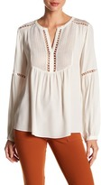 Hale Bob Embroidered Lace Trim Blouse