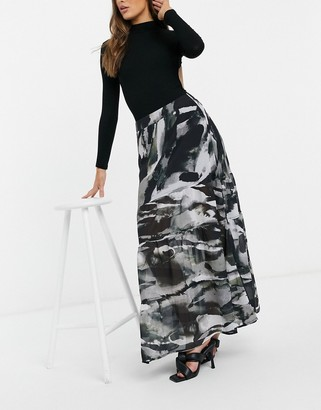 Religion midi skirt in abstract print