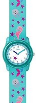 Timex Children's Quartz Watch with White Dial Analogue Display and Multicolour Nylon Strap TW7C13700