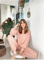 Thumbnail for your product : Little Mistress Dusty Rose Jogger Loungewear Co-ord