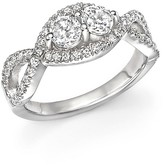 Bloomingdale's Diamond Two Stone Twist Ring in 14K White Gold, .75 ct. t.w.
