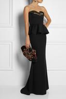 Alexander McQueen Duchesse-silk peplum bustier
