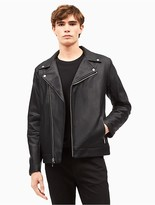 Calvin Klein Faux Leather Asymmetrical Moto Jacket