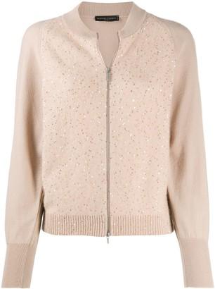 Fabiana Filippi Embellished Zipped Cardigan