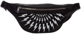 Neil Barrett Thunderbolt Fair-isle Bum Bag