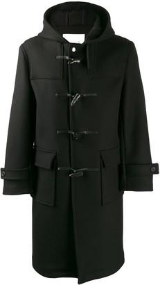 MACKINTOSH WEIR Black Wool Long Duffle Coat GM-028