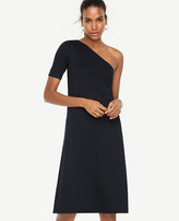 Ann Taylor One Shoulder Shift Dress