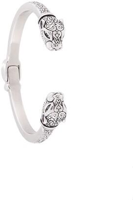 Nialaya Jewelry Engraved Animal Head Bangle