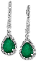 Effy Brasilica by Emerald (1-1/8 ct. t.w.) and Diamond (1/4 ct. t.w.) Drop Earrings in 14k White Gold