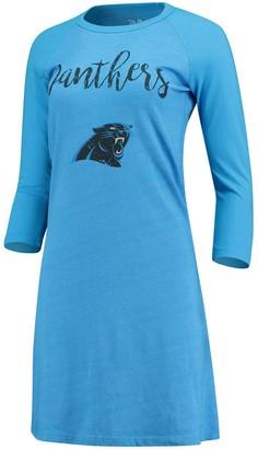 Majestic Women's Threads Blue Carolina Panthers Tri-Blend 3/4-Sleeve Raglan Dress
