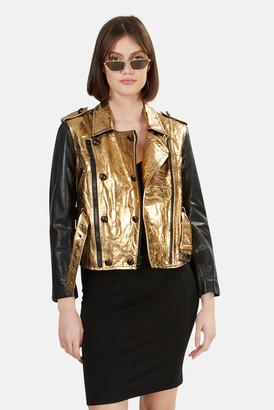 3.1 Phillip Lim Gold Leather Jacket