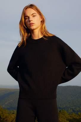 Mansur Gavriel Wool Oversized Crewneck - Black