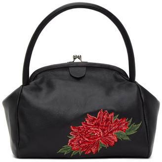 Y's Ys Black Floral Clasp Bag