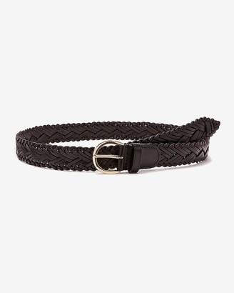 Express Genuine Leather Braided Belt