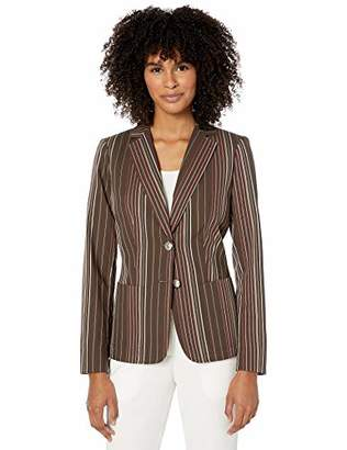 Tommy Hilfiger Women's Stripe Two Button Blazer