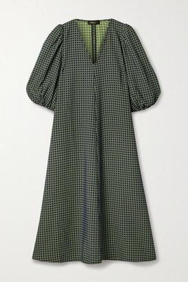 Stine Goya Net Sustain Mavelin Jacquard Midi Dress - Navy