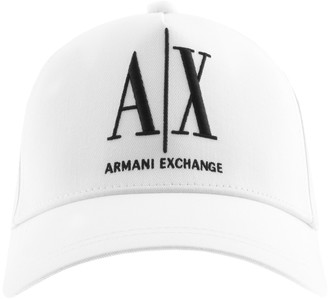 Armani Exchange logo Baseball Cap White