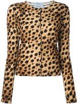 Blumarine leopard print cardigan and tank set
