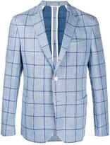BOSS checked tailored blazer
