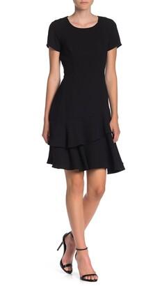 Shani Layered Ruffle Hem Dress