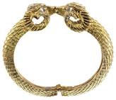 Elizabeth Cole Gold Double Ram Head Bracelet