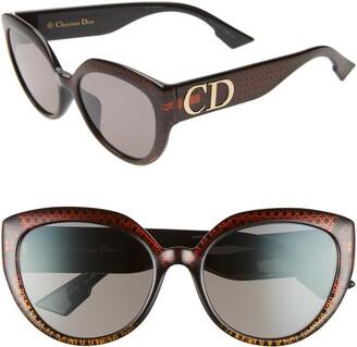 Christian Dior DDIORF 56mm Cat Eye Sunglasses