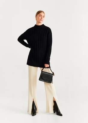 MANGO Striped knit sweater light heather grey - XXS - Women