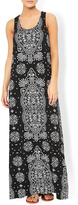 Monsoon Madeline Printed Jersey Maxi Dress