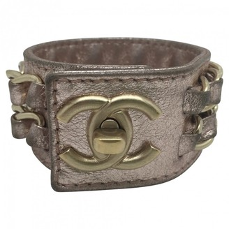 Chanel Pink Leather Bracelets