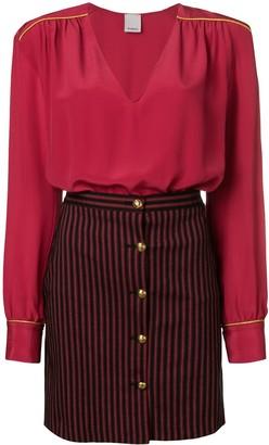 Pinko striped skirt dress
