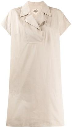 Hermes Pre Owned 1980's shortsleeved shift dress