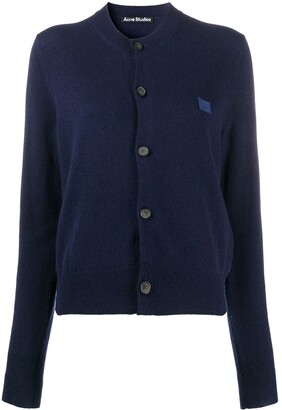 Acne Studios Logo Patch Button-Up Cardigan