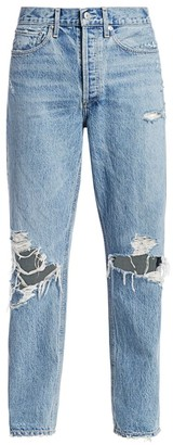 AGOLDE 90s Mid-Rise Loose-Fit Distressed Jeans