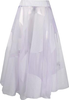 Miaoran Polka-Dot Sheer Skirt
