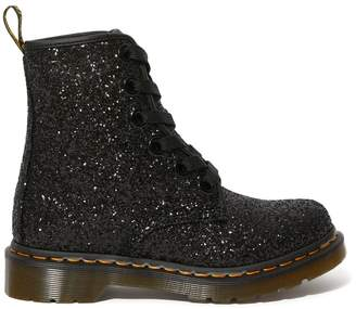 Dr. Martens 1460 Farrah Glitter Leather Boots with Lace-Up Fastening